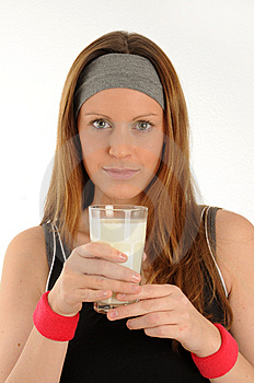 Drinking Milk Royalty Free Stock Images - Image: 8255939