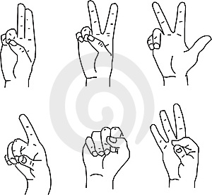 Hand Gestures Royalty Free Stock Photos - Image: 8257318
