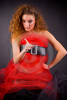 Beautiful Girl Gesticulating Royalty Free Stock Images - Image: 8258219