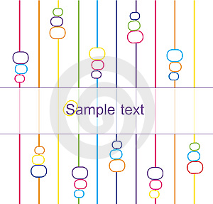 Background With Ellipses And Stripes Royalty Free Stock Image - Image: 8258286