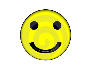 Smiley yellow face. Royalty Free Stock Photo