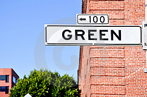 Green St Stock Image - Image: 8261671