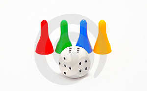 Dice And Four Pieces Stock Image - Image: 8261991