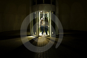 Unrecognizable Man In Elevator Royalty Free Stock Photos - Image: 8261998