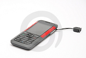 Cellular Phone On White Background Royalty Free Stock Images - Image: 8262019