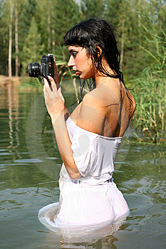 Photographer In Water Royalty Free Stock Image - Image: 8262656
