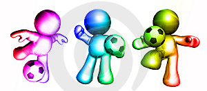 Colorful Soccer Guys Stock Photo - Image: 8262790