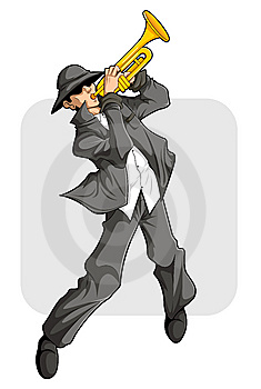 Trumpet Player Show Royalty Free Stock Photography - Image: 8263507