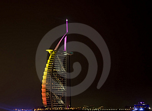 Burj Al Arab and follow through Stock Photography