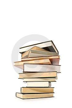 Stack Of Books Isolated On White Background Stock Image - Image: 8263971