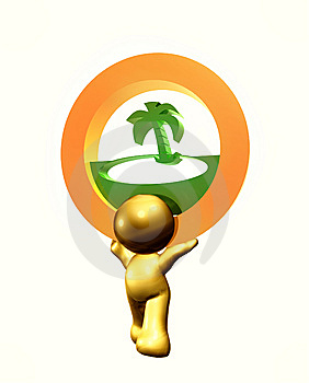 Resort Beach Icon Symbol Stock Photo - Image: 8264000
