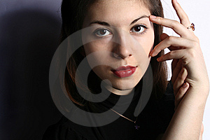 Portrait Of The Young Girl Close Up. Royalty Free Stock Image - Image: 8264046