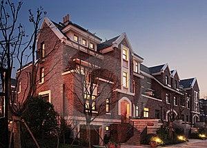 Villa At Dusk Stock Images - Image: 8265034
