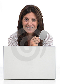 Woman Buying Online Royalty Free Stock Photography - Image: 8265567