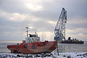 Unlucky Shipwreck Ashore Royalty Free Stock Image - Image: 8265576