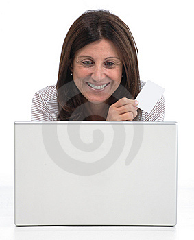 Woman Buying Online Stock Photos - Image: 8265583