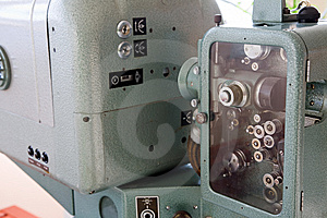 Old 35mm Projector Royalty Free Stock Image - Image: 8265886
