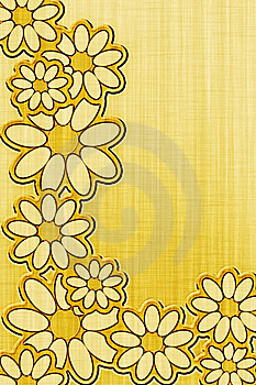 Paper With Flowers Stock Image - Image: 8266971