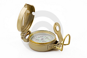 A Military Compass Royalty Free Stock Photos - Image: 8267428