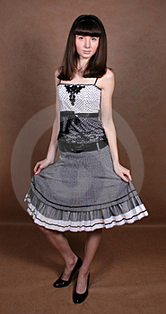 Graceful Curtsy Stock Image - Image: 8267711