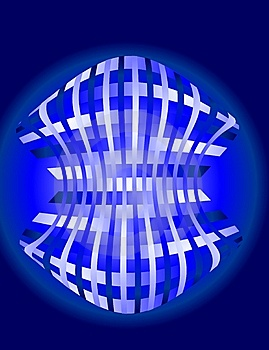 Woven Blue Background Royalty Free Stock Photography - Image: 8267877