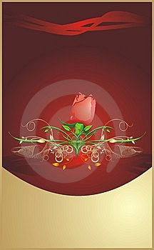 Red Rose. Floral Background For Wrapping Stock Image - Image: 8267891