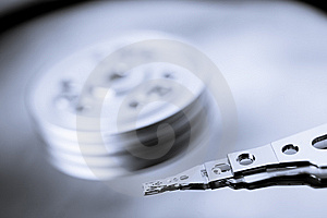 Macro Photo - Hard Disk Drive Royalty Free Stock Photos - Image: 8268488