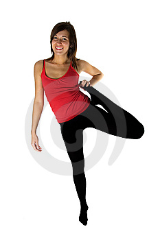 Young Woman Training Fitness Stock Photo - Image: 8269080