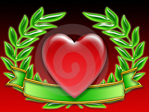Poker Banner Hearts Stock Images - Image: 8269584
