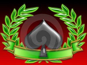 Poker Banner Spades Stock Image - Image: 8269631