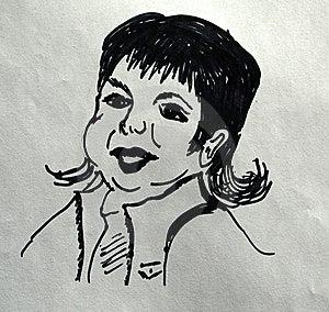 Tootsie Art Sketch. Stock Images - Image: 8269784