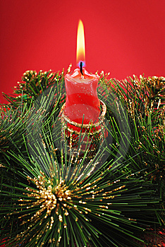 Red Candle Royalty Free Stock Photo - Image: 8270975