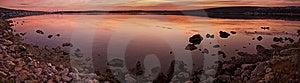 Idyllic Sunset Over Sea Water Royalty Free Stock Photos - Image: 8272948