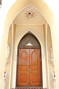 Gothic Style Door. Stock Image - Image: 8273711