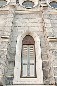 Gothic Style Window. Stock Image - Image: 8274651