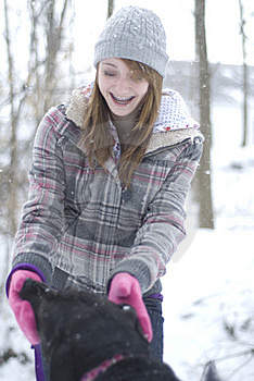 Girl With Dog 9 Royalty Free Stock Photos - Image: 8275078