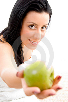 Side View Of Sexy Woman With Scrubber In Spa Stock Photo - Image: 8275440