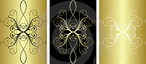 3 Gold Pattern Stock Photography - Image: 8275892