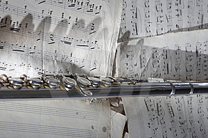 Flute And Old Sheet Music Royalty Free Stock Photo - Image: 8275905