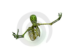 Skeleton In A Pose Stock Photo - Image: 8276480