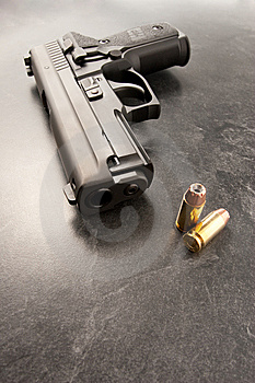 Handgun And Bullets Stock Photography - Image: 8276832