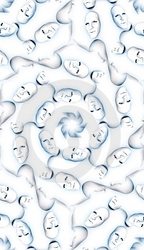 Seamless Face Pattern Stock Image - Image: 8276881