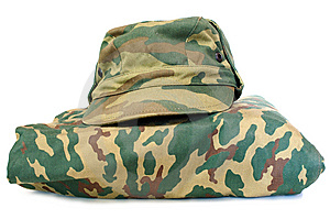Camouflage Uniform Complete Set. Royalty Free Stock Images - Image: 8277179