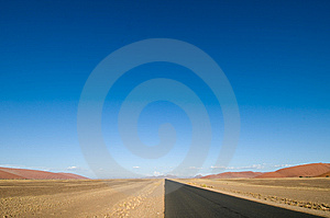 Long Straight Empty Desert Road, Namibia Stock Image - Image: 8277561