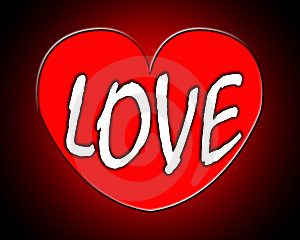 Text In Love Heart Stock Photography - Image: 8277822