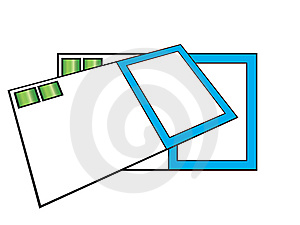 Some Blank Business Cards Stock Photography - Image: 8278052