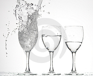 Glasses With Water Royalty Free Stock Photo - Image: 8278355