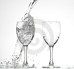 Glasses With Water Royalty Free Stock Images - Image: 8278389
