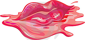 Bloody Lips Royalty Free Stock Image - Image: 8278796