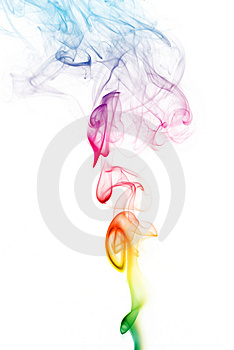Colorful Rainbow Smoke Royalty Free Stock Photography - Image: 8281477